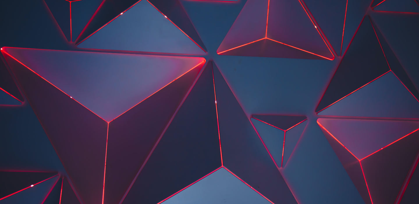 Dark abstract triangles in 3d